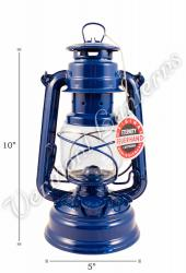 Feuerhand Hurricane Lantern German Made - Blue