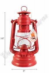Feuerhand Hurricane Lantern German Made - Red
