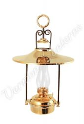 "Hanging Oil Lamps - Brass ""Dorset"" 14"" w/shade"