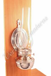 "Wall Lantern - Large Chrome Nickel ""Mansfield"" 14"""