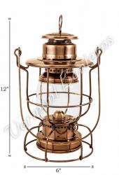 "Railroad Lanterns Antique Brass 12"" - Train Lamp"