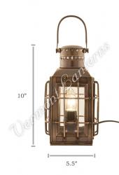 Electric Lantern - Ship Lantern Antique Brass Chiefs Lamp - 10""