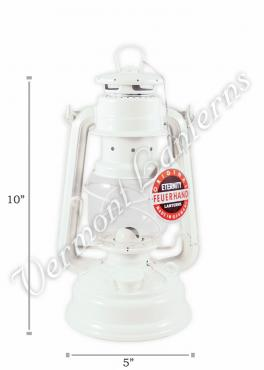 Feuerhand Hurricane Lantern German Made - White