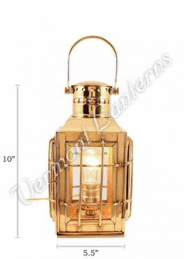 Electric Lantern - Ship Lantern Brass Chiefs Lamp - 10""