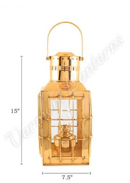 Ship Lantern - Brass Chiefs Oil Lamp - 15""