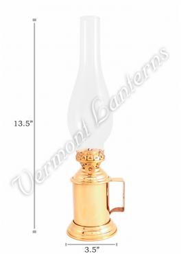 Oil Lanterns - Brass Tavern Mug Lamp - 13.5""