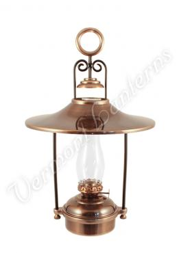 """Hanging Oil Lamps - Antique Brass """"Dorset"""" 14"""" w/shade"""