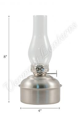 "Oil Lamps - Pewter ""Dorset"" Table Lamp - 8"""