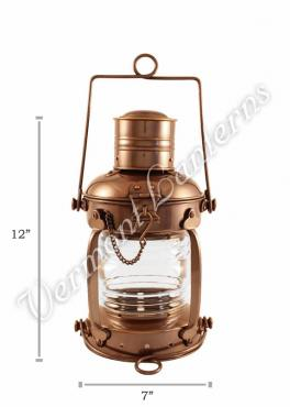 Ships Lanterns - Antique Brass Anchor Lamp - 12""