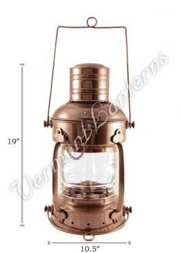 Ships Lanterns - Antique Brass Anchor Lamp - 19""