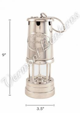 Chrome Plated Brass Miners Lamp - 9""