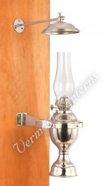 Yacht Lamp - Gimbaled Nickel with Smoke Bell - 12""