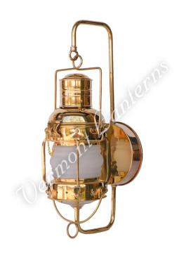 "Electric Lantern - Ships Lanterns Brass Anchor Lamp - 10"" Custom Wall Mount"