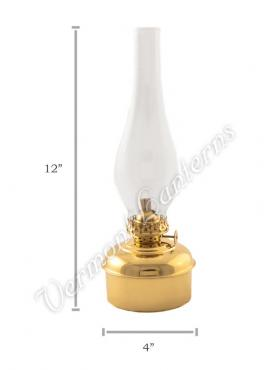 "Oil Lamps Brass ""Dorset"" Table Lamp - 12"""