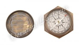 Nautical Gifts - Antique Brass Pocket and Desk Compass - 4""