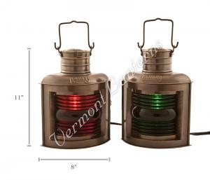 Electric Lanterns - Ships Lantern Antique Port & Starboard - 12""