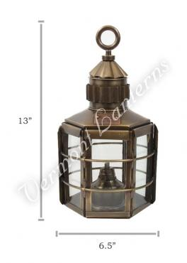 Ship Lanterns Clipper Lamp Antique Brass - 13""