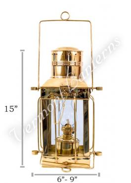 Oil Lamps - Brass Cargo Lamp 15""