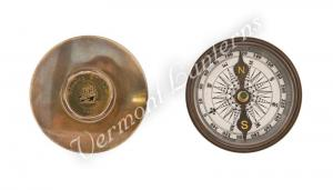 Nautical Gifts - Antique Brass Pocket and Desk Compass - 2""
