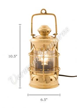 Electric Lanterns - Nautical Lamps Brass Masthead Lantern - 10.5""