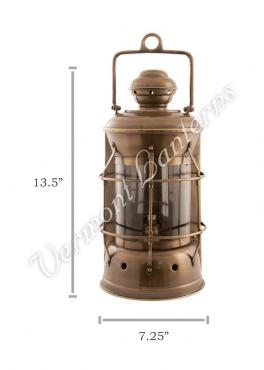 Nautical Lamps - Antique Brass Masthead Lantern - 13.5""