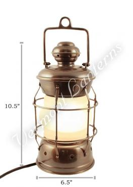 Electric Lanterns - Nautical Lanterns Antique Brass Nelson - 10.5""