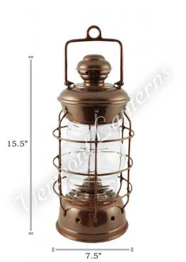 Nautical Lanterns Antique Brass Nelson - 15.5""