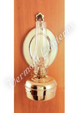 "Oil Lamps - Brass ""Dorset"" Wall Lamp 10"""