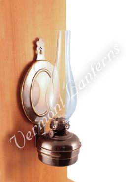 "Oil Lamps - Antique Brass ""Dorset"" Wall Lamp 12"""