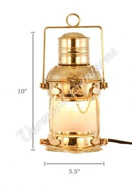 Electric Lantern - Ships Lanterns Brass Anchor Lamp - 10""