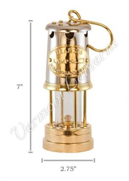 Yacht Lamps - Brass & Stainless Steel Lantern - 7""
