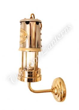 Electric Yacht Lamps - Brass & Stainless Steel Lantern - 12v -9""