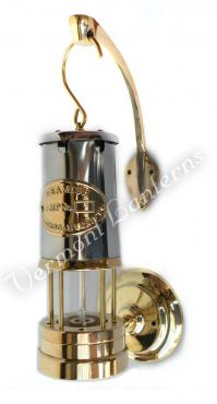 Electric Yacht Lamps - Brass & Stainless Steel Lantern - 12v - 10""