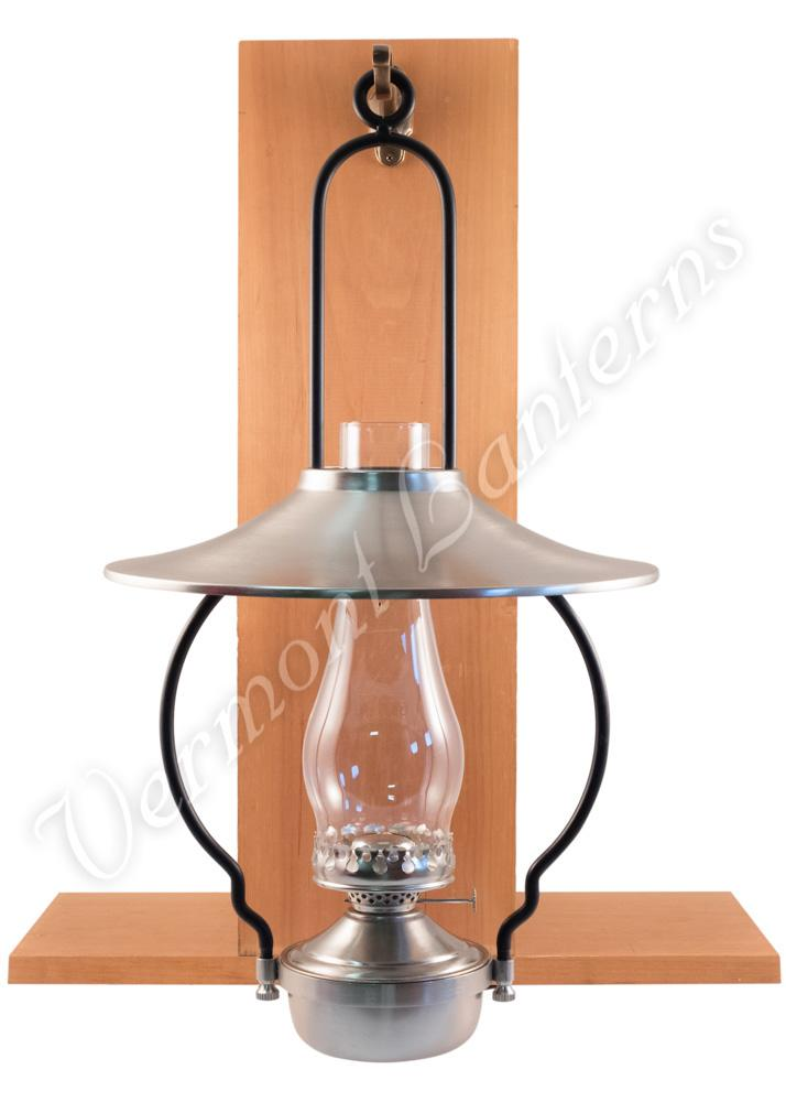 Mansfield Saloon Hanging Lamp Pewter 21 W Shade