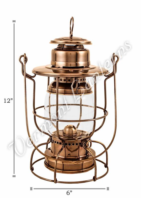 railroad lanterns antique brass 12 train lamp vermont lantern co. Black Bedroom Furniture Sets. Home Design Ideas