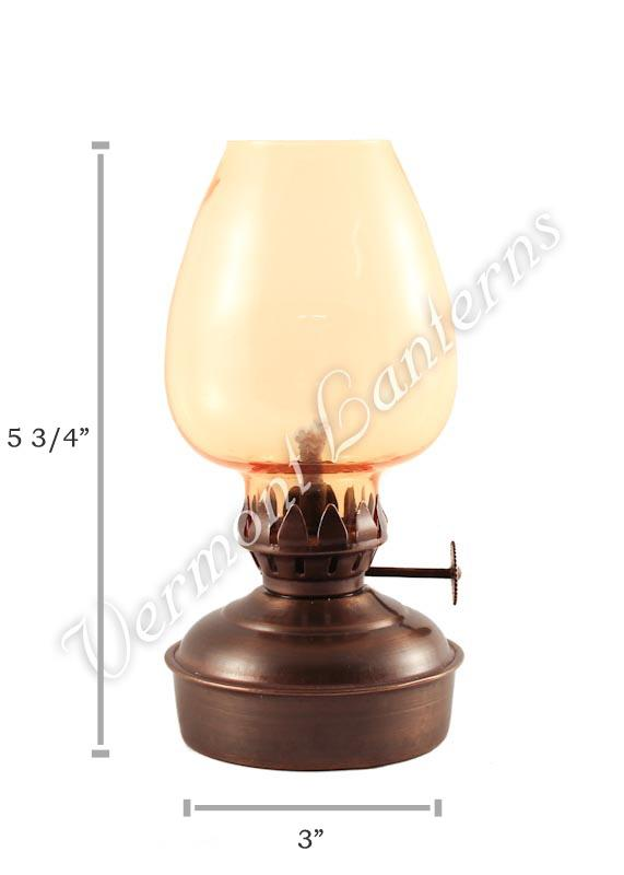 Oil Lanterns Antique Brass Mini 5 75 Quot Amber Glass
