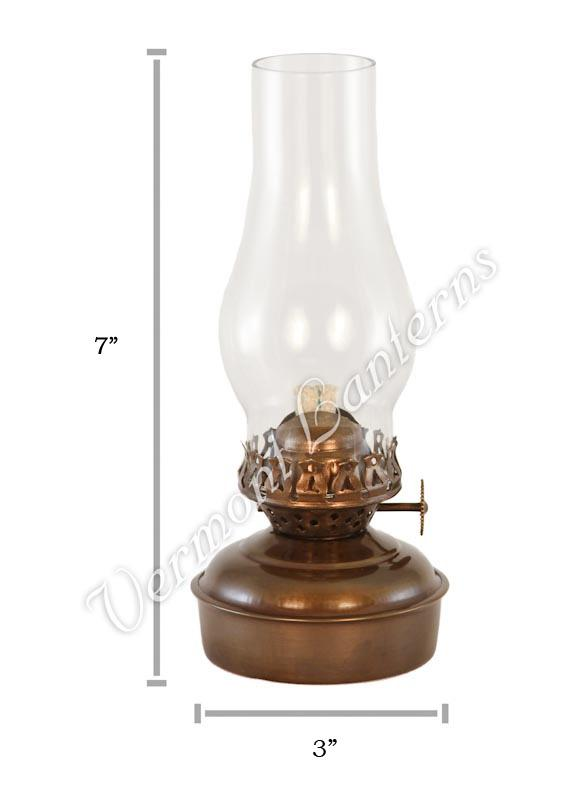 Wall Hurricane Lamps : Hurricane Oil Lamps - Antique Brass Mini XL Wall Lamp 7