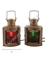 Electric Lanterns - Ships Lantern Antique Port & Starboard - 10""