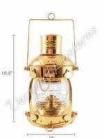 Ships Lanterns - Brass Anchor Lamp - 15.5""