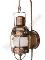 "Electric Lantern - Ships Lanterns Antique Brass Anchor Lamp - 10"" Custom Wall Mount"