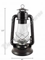 Hurricane Lantern - Galvanized Steel Black - 15""