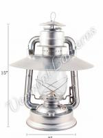 Hurricane Lanterns - Galvanized w/ Hooded Reflector - 15""
