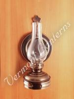 Oil Lamps - Antique Brass Mini Wall Lamp 6.5""