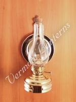 Oil Lamps - Brass Mini Wall Lamp 6.5""
