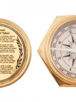 Nautical Gifts - Brass Pocket and Desk Compass - 4""