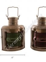 Ships Lantern - Antique Brass Port & Starboard - 12""