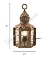Electric Lanterns - Ship Lanterns Clipper Lamp Antique Brass - 13""