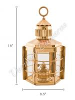 Ship Lanterns - Brass Clipper Lamp - 16""
