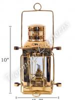 Oil Lamps - Brass Cargo Lamp 10""