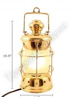 Electric Lanterns - Nautical Lanterns Brass Nelson - 10.5""